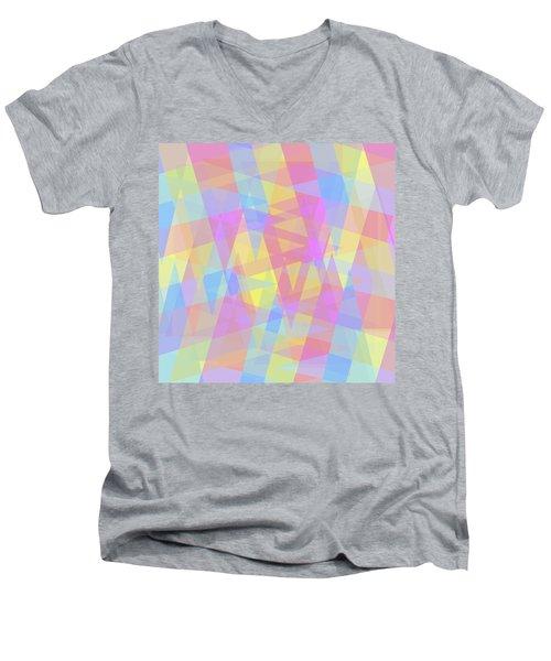 Triangle Jumble 2 Men's V-Neck T-Shirt