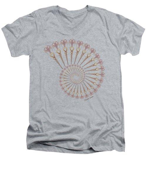 Tribal Caribbean Lobster Spiral Shell Men's V-Neck T-Shirt