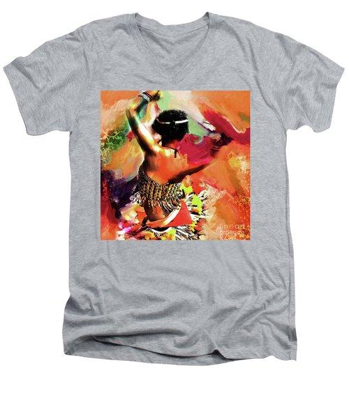 Tribal Dance 0321 Men's V-Neck T-Shirt by Gull G