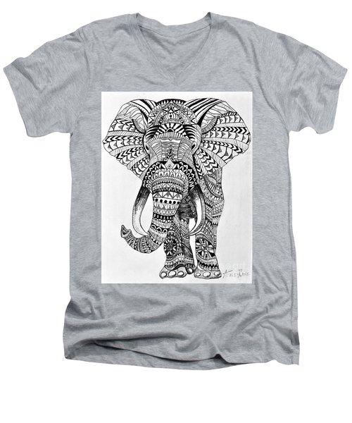 Tribal Elephant Men's V-Neck T-Shirt