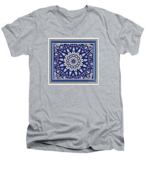 Men's V-Neck T-Shirt featuring the photograph Tribal Star by Shirley Moravec