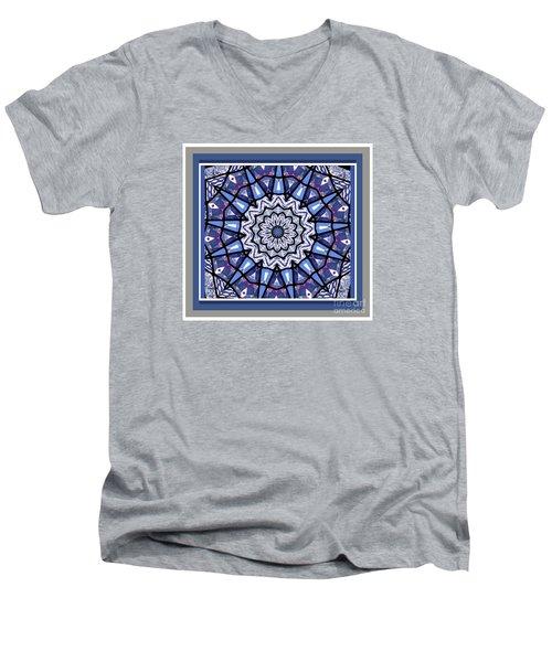 Tribal Star Men's V-Neck T-Shirt by Shirley Moravec