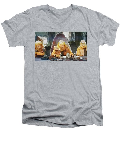 Tribunal Trump Men's V-Neck T-Shirt by Christopher McKenzie