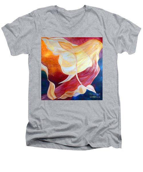 Tribute To An Angel Men's V-Neck T-Shirt