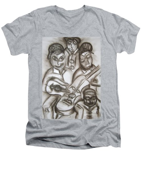 Tribute To The String Bass Men's V-Neck T-Shirt