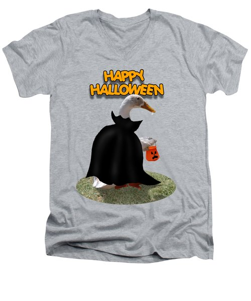 Trick Or Treat For Count Duckula Men's V-Neck T-Shirt by Gravityx9  Designs