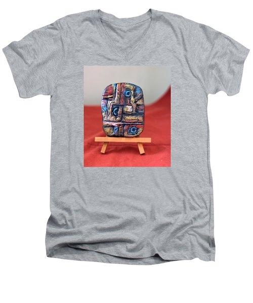 Trilogy Men's V-Neck T-Shirt by Edgar Torres