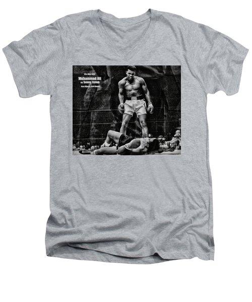 Trinity Boxing Gym Ali Vs Liston  Men's V-Neck T-Shirt