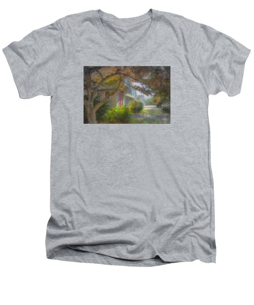 Trinity Episcopal Church, Bridgewater, Massachusetts Men's V-Neck T-Shirt