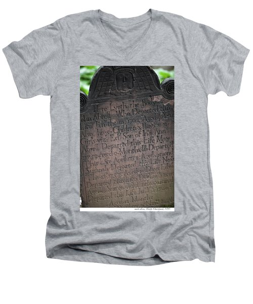 Trinity Tombstone Men's V-Neck T-Shirt
