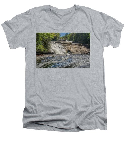 Triple Falls Second Tier Men's V-Neck T-Shirt by Steven Richardson