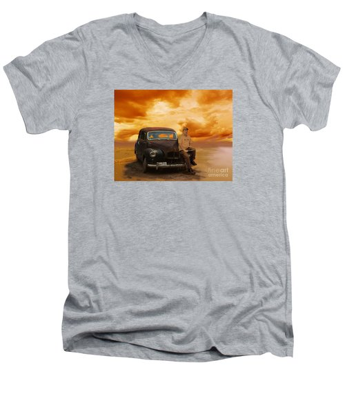 Trippin' With My '48 Austin A40 Men's V-Neck T-Shirt