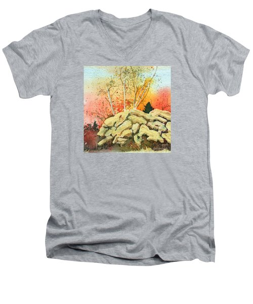 Triptych Panel 2 Men's V-Neck T-Shirt