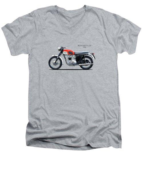 Triumph Bonneville 1966 Men's V-Neck T-Shirt by Mark Rogan