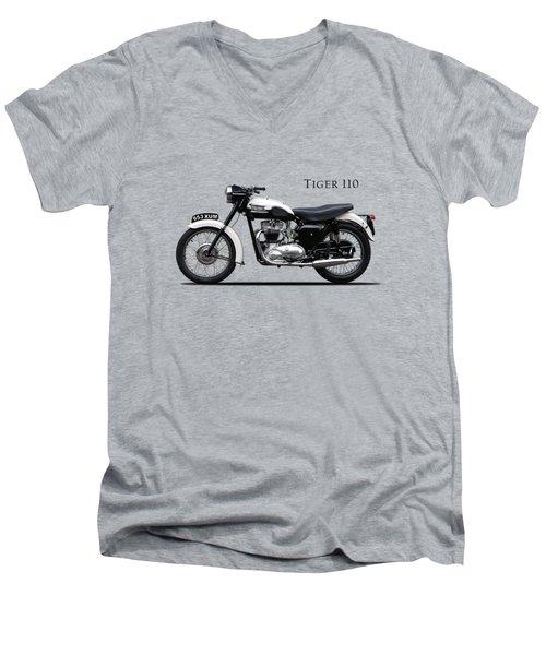 Triumph Tiger 1959 Men's V-Neck T-Shirt by Mark Rogan
