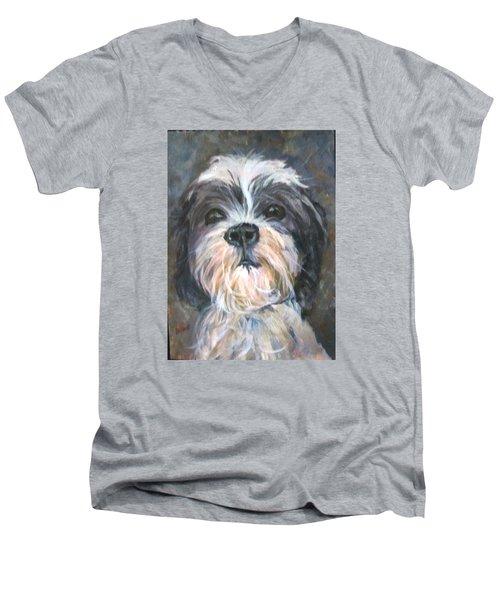 Trixie Men's V-Neck T-Shirt by Barbara O'Toole