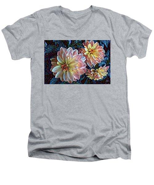 Men's V-Neck T-Shirt featuring the photograph Trois by Geri Glavis