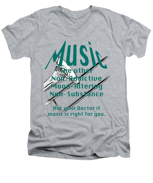 Trombone Music Is Right For You 5495.02 Men's V-Neck T-Shirt by M K  Miller