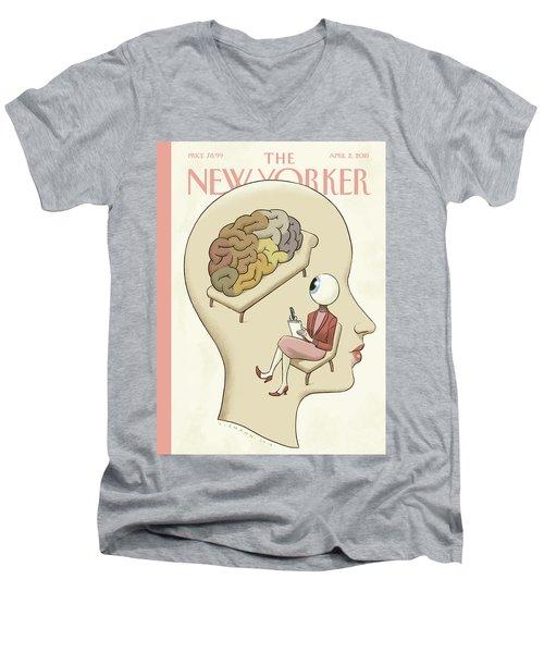 Trompe-l'oeil Men's V-Neck T-Shirt