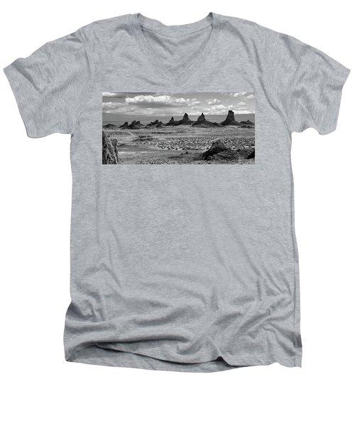 Trona Pinnacles Peaks Men's V-Neck T-Shirt by Marius Sipa