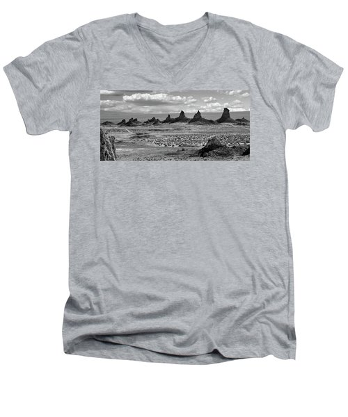 Trona Pinnacles Peaks Men's V-Neck T-Shirt