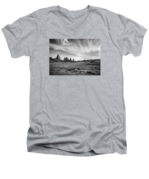 Trona Pinnacles Sky Men's V-Neck T-Shirt