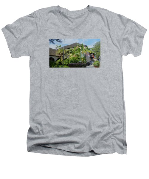 Tropical Atmosphere In St Augustine Men's V-Neck T-Shirt