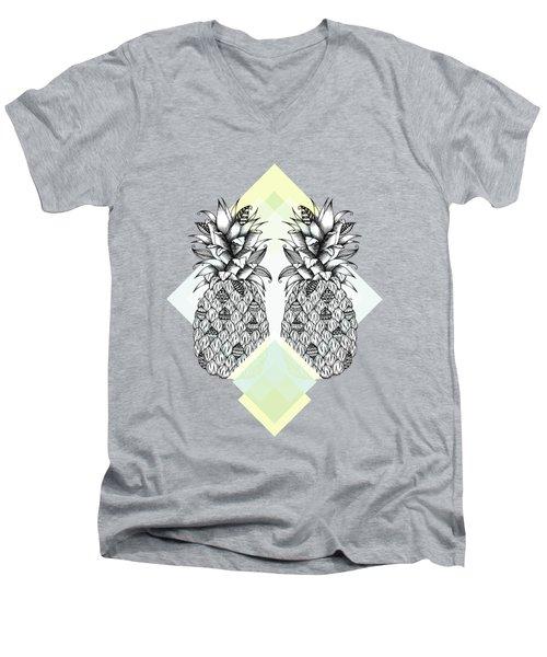 Tropical Men's V-Neck T-Shirt by Barlena Illustrations
