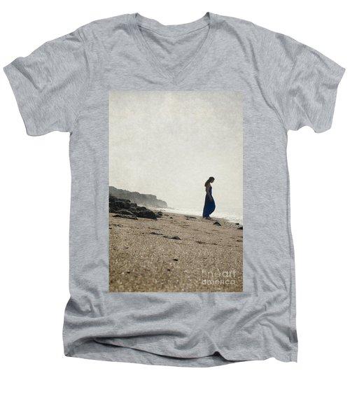 Tropical Beach Men's V-Neck T-Shirt