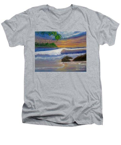 Tropical Dream Men's V-Neck T-Shirt by Holly Martinson