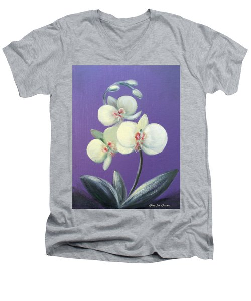 Tropical Elegance Men's V-Neck T-Shirt