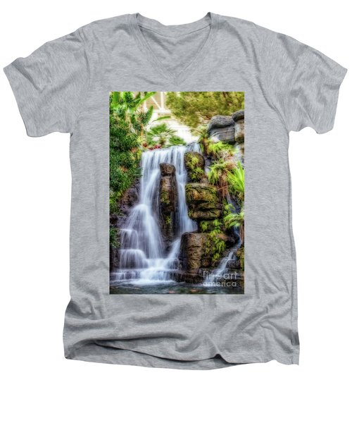 Tropical Falls Men's V-Neck T-Shirt