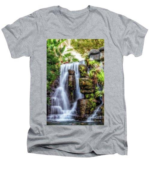 Tropical Falls Men's V-Neck T-Shirt