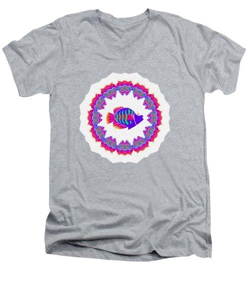 Tropical Fish Kaleidoscope By Kaye Menner Men's V-Neck T-Shirt