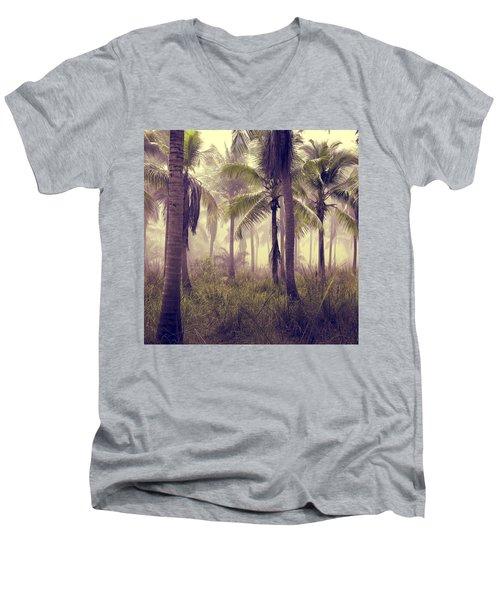 Tropical Forest Men's V-Neck T-Shirt