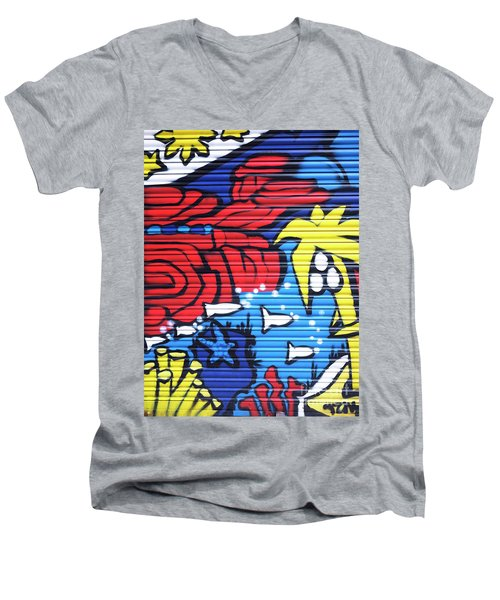 Tropical Graffiti Barcelona Men's V-Neck T-Shirt
