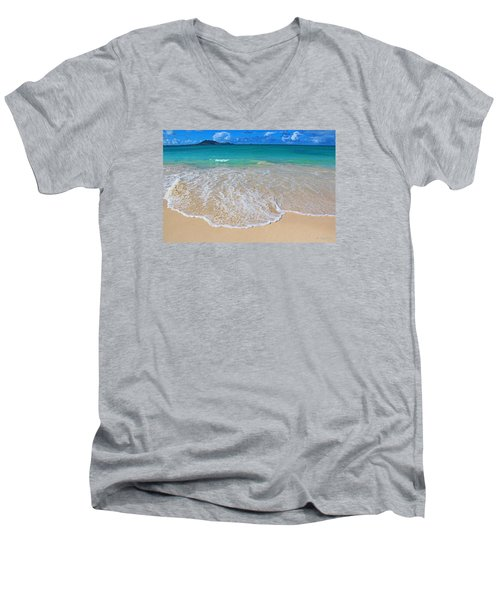 Tropical Hawaiian Shore Men's V-Neck T-Shirt
