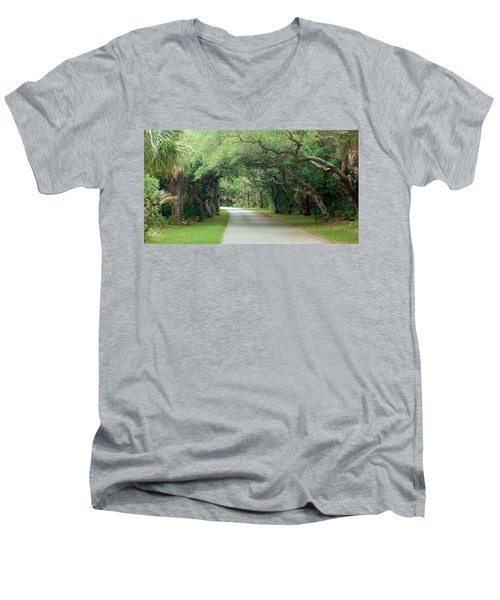 Tropical Magic Forest Men's V-Neck T-Shirt
