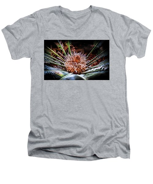 Tropical Moments Men's V-Neck T-Shirt by Karen Wiles