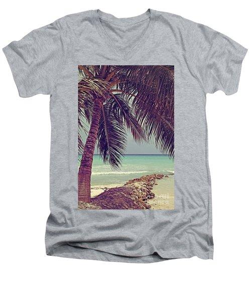 Tropical Ocean View Men's V-Neck T-Shirt