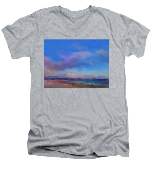 Tropical Seascape Men's V-Neck T-Shirt by Anthony Fishburne