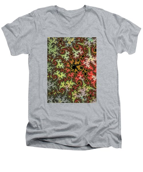 Men's V-Neck T-Shirt featuring the photograph Tropical Storm Embroidered by Ronda Broatch