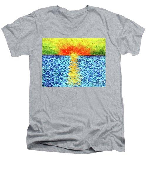 Tropical Sunrise Men's V-Neck T-Shirt