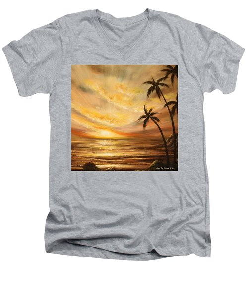 Tropical Sunset 64 Men's V-Neck T-Shirt