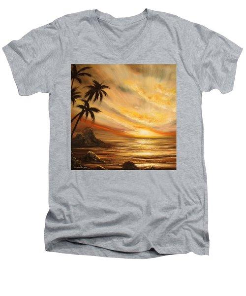 Tropical Sunset 65 Men's V-Neck T-Shirt