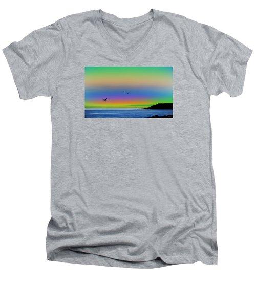 Tropical Sunset Men's V-Neck T-Shirt