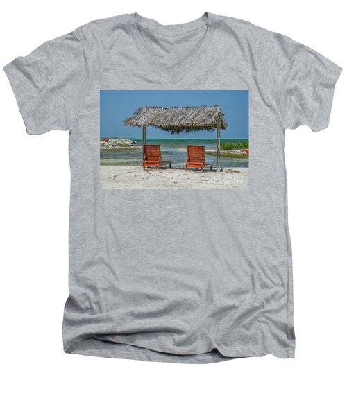 Tropical Vacation Men's V-Neck T-Shirt