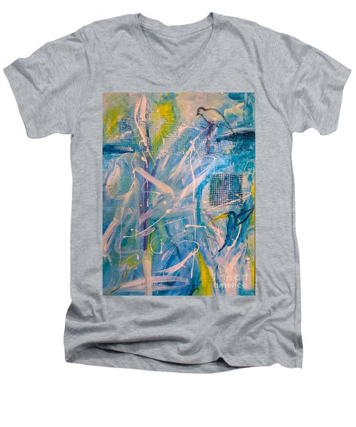 Tropicana Bird 02 Men's V-Neck T-Shirt by Gallery Messina