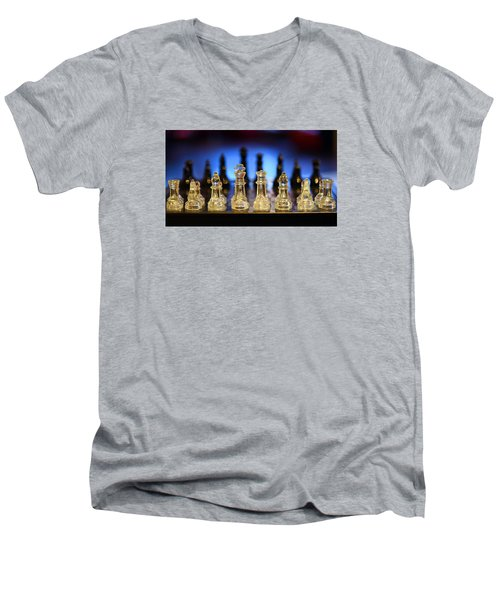 Trouble On The Horizon Men's V-Neck T-Shirt by Stephen Flint