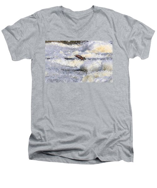 Men's V-Neck T-Shirt featuring the digital art Trout by Robert Pearson